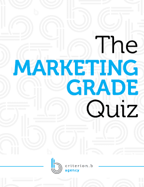 Marketing Grade Quiz