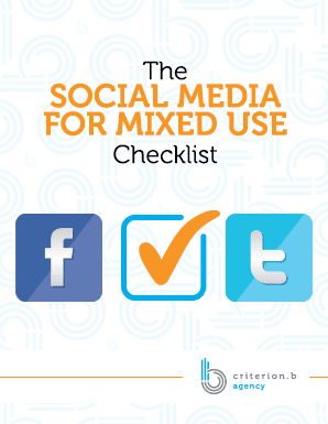 The Social Media for Mixed Use Checklist